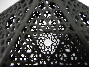 Screened Icosahedron in Black Acrylic