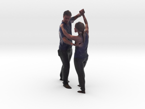 Dancing Couple - Denver Startup Week 2014 in Full Color Sandstone