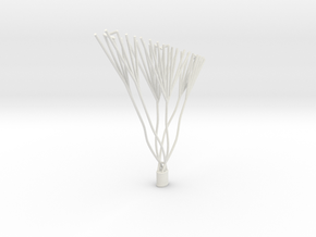 1/144 Caquot Replacement Balloon Basket in White Strong & Flexible