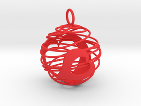 Christmas Bauble 2 in Red Strong & Flexible Polished