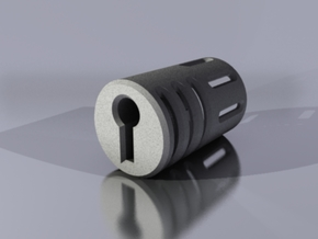 Key Bladeplug in Polished Metallic Plastic