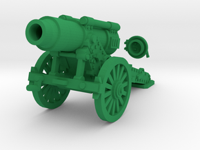 Steampunk Heavy Mortar in Green Strong & Flexible Polished