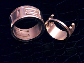 Interlocking Rings (US size 6.5) in Polished Silver