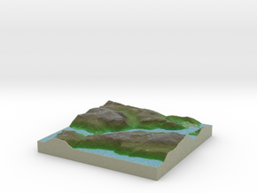 Terrafab generated model Thu Sep 25 2014 11:23:29  in Full Color Sandstone