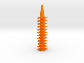 "18"" traffic cones 1/12th (12) in Orange Strong & Flexible Polished"