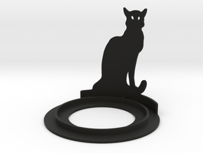 Halloween Cat Tea Candle Holder in Black Strong & Flexible