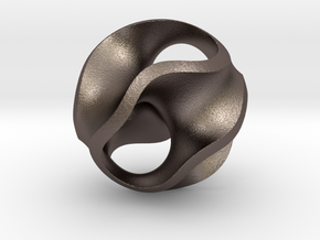 Gyroid Pendant in Stainless Steel