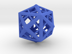 Cube frame in Blue Strong & Flexible Polished