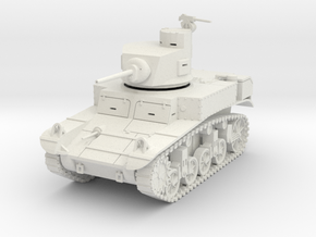PV28A M3 Stuart w/horseshoe turret (28mm) in White Strong & Flexible