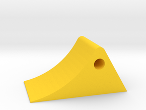Wheel chock 1/32 in Yellow Strong & Flexible Polished