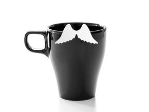 Mug & glass accessories wings 4 in White Strong & Flexible