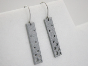 Evaporation Earrings in Polished Metallic Plastic