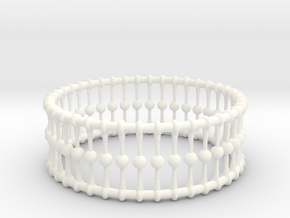 Bracelet Cones Balls And Rings 3 In Dia in White Strong & Flexible Polished