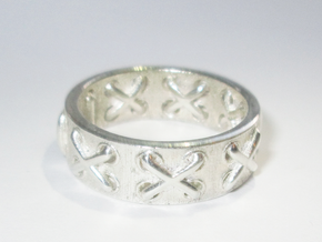 Lace-up Ring - Sz. 5 in Premium Silver