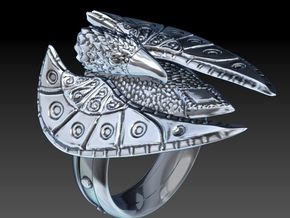 Eagle Ring max in Metallic Plastic