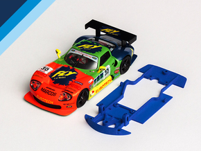 1/32 Fly Marcos LM600 Chassis for slot.it pod in Blue Processed Versatile Plastic