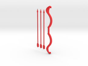 Snake Bow And Arrows, compatible with MOTUC in Red Strong & Flexible Polished