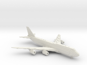 [1:666] Minecraft Boeing 747-8i in White Strong & Flexible