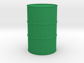 44 Gal/220 L Drum 1:35 Scale in Green Strong & Flexible Polished
