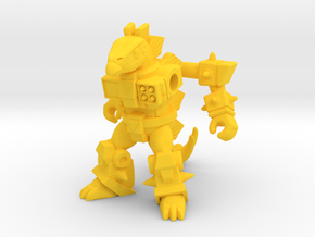 Stab-Happy Stegosaur in Yellow Strong & Flexible Polished