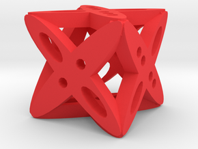 Dice4 in Red Strong & Flexible Polished
