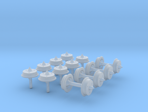 Experimental N-gauge Wheels in Frosted Ultra Detail