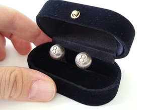 8-ball cufflinks in Stainless Steel