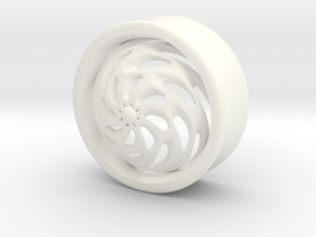 VORTEX4-25mm in White Strong & Flexible Polished