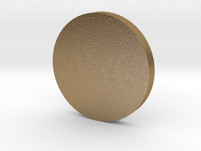 Coin in Polished Gold Steel