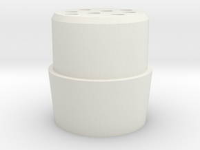 Quick release tube part for 28mm tube in White Strong & Flexible