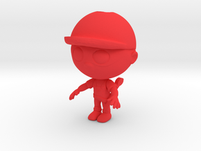 Plumber Character in Red Strong & Flexible Polished