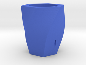 Curved plant pot in Blue Strong & Flexible Polished