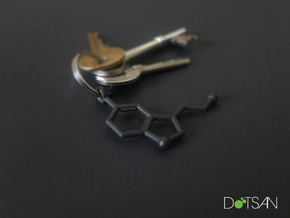 Serotonin Keychain Matte Black and Gold Steel in Matte Black Steel