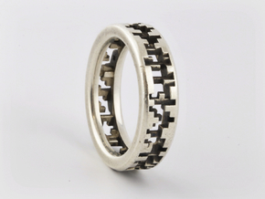 Matter Ring in Polished Silver