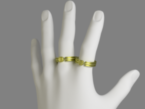 Em(B)lem Ring - EU Size 64 in Polished Gold Steel