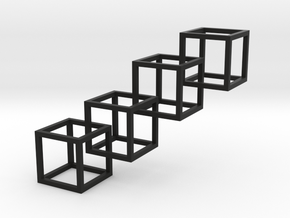Inter locking cube 4 in Black Strong & Flexible