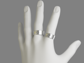 Rift Ring - EU Size 63 in Polished Nickel Steel