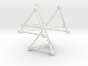 Tetrahedra (L) in White Strong & Flexible