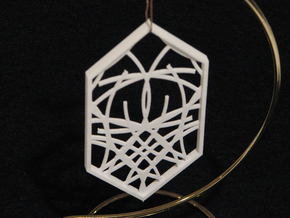 Ornament 04d in White Strong & Flexible