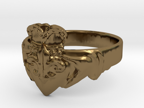 NOLA Claddagh, Ring Size 10 in Polished Bronze