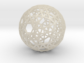 Triangulated Sphere in White Acrylic