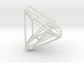 Tetrahedron .04 2cm in White Strong & Flexible