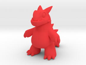Dino in Red Strong & Flexible Polished