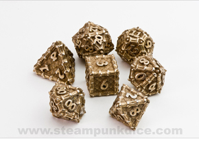 Dragon Dice Set in Stainless Steel