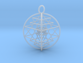 3D Sri Yantra Optimal in Frosted Ultra Detail