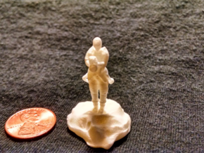 Catrell, the Human Cleric Hermit with Holy Symbol in White Strong & Flexible Polished