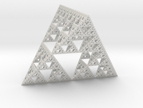 Geometric Sierpinski Tetrahedron level 5 in White Strong & Flexible