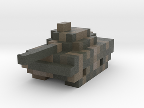 Miniature Pixellated Tank in Full Color Sandstone