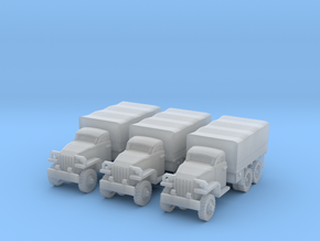 1/220 Studebaker 6x6 trucks (3) in Frosted Ultra Detail