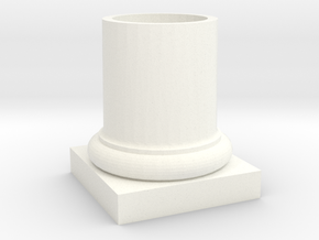 COLUMN PENCIL HOLDER in White Strong & Flexible Polished